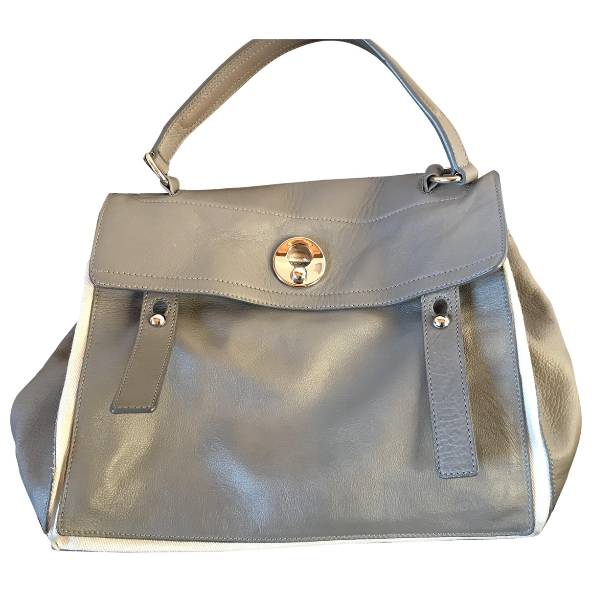 Yves Saint Laurent Muse Two Grey Leather handbag for Women \N