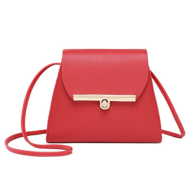 Laides Elegant SolidPatchwork PU Leather Handbags Flap Crossbody Bags