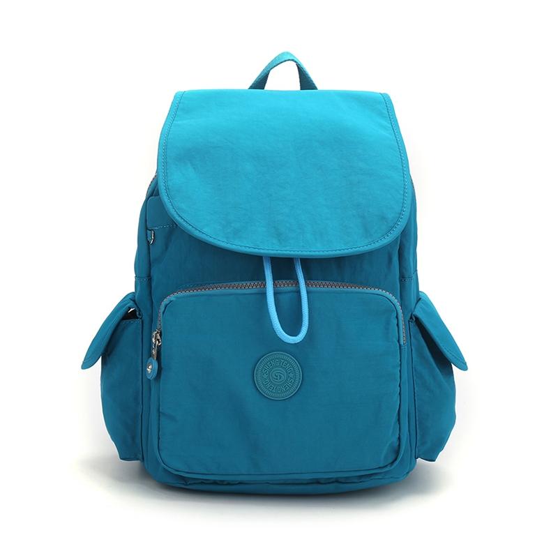 Ericdress Spring Preppy Canvas Plain Zipper Backpacks
