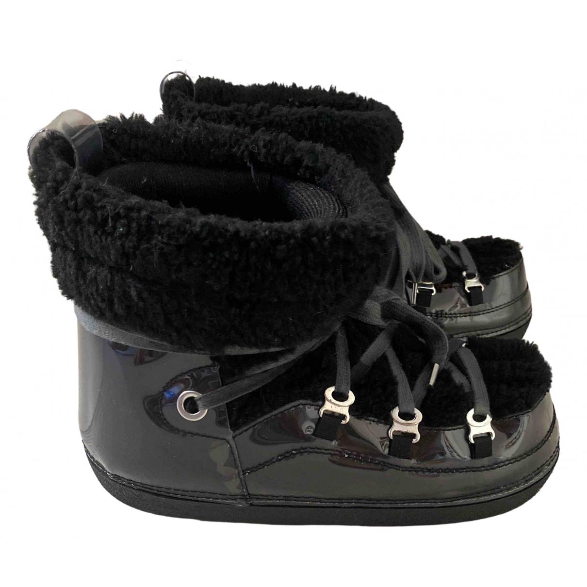 Mm6 \N Black Faux fur Boots for Women 38.5 IT