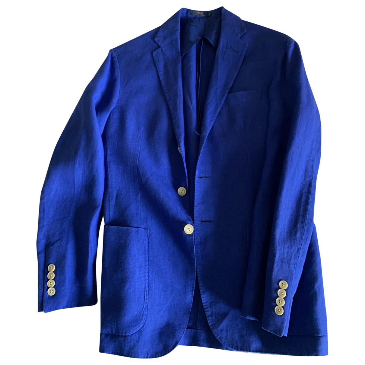Polo Ralph Lauren \N Blue Linen jacket  for Men S International