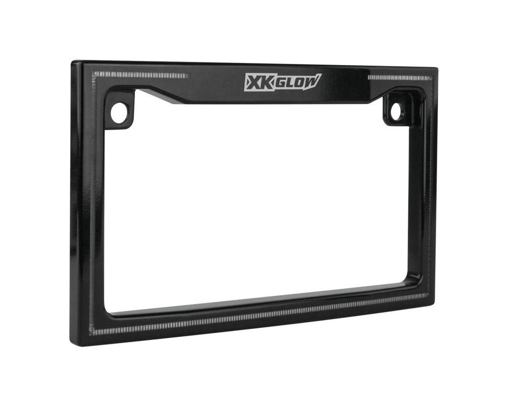 XK Glow XK034018-B Black LED License Plate Frame