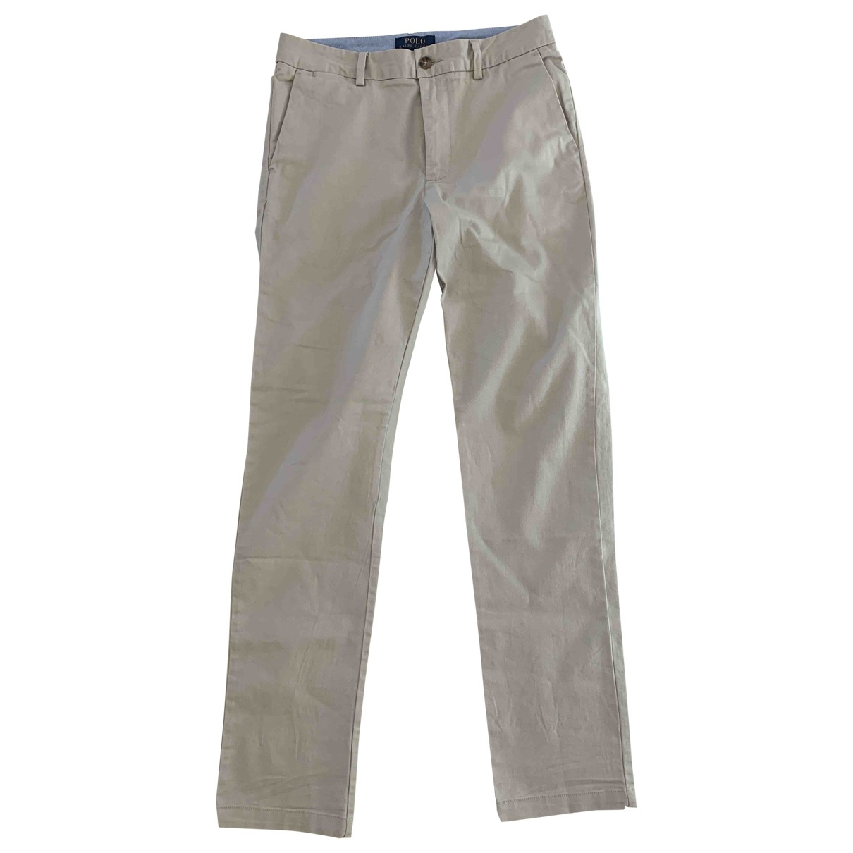 Polo Ralph Lauren \N Beige Cotton Trousers for Kids 16 years - M FR
