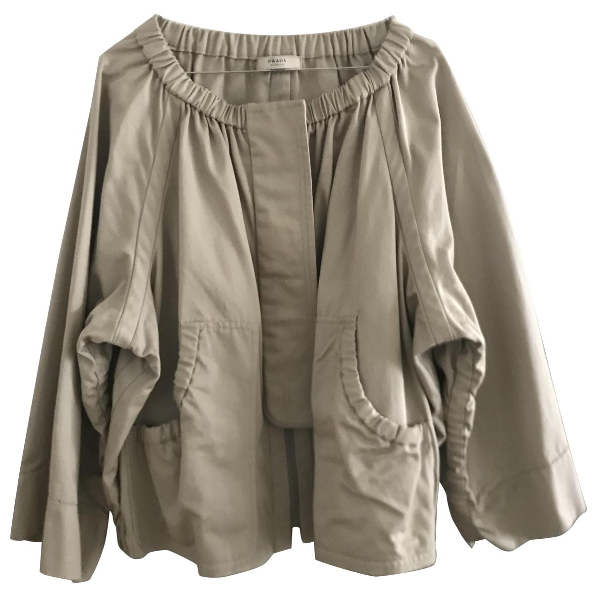 Prada \N Beige Cotton jacket for Women 42 IT