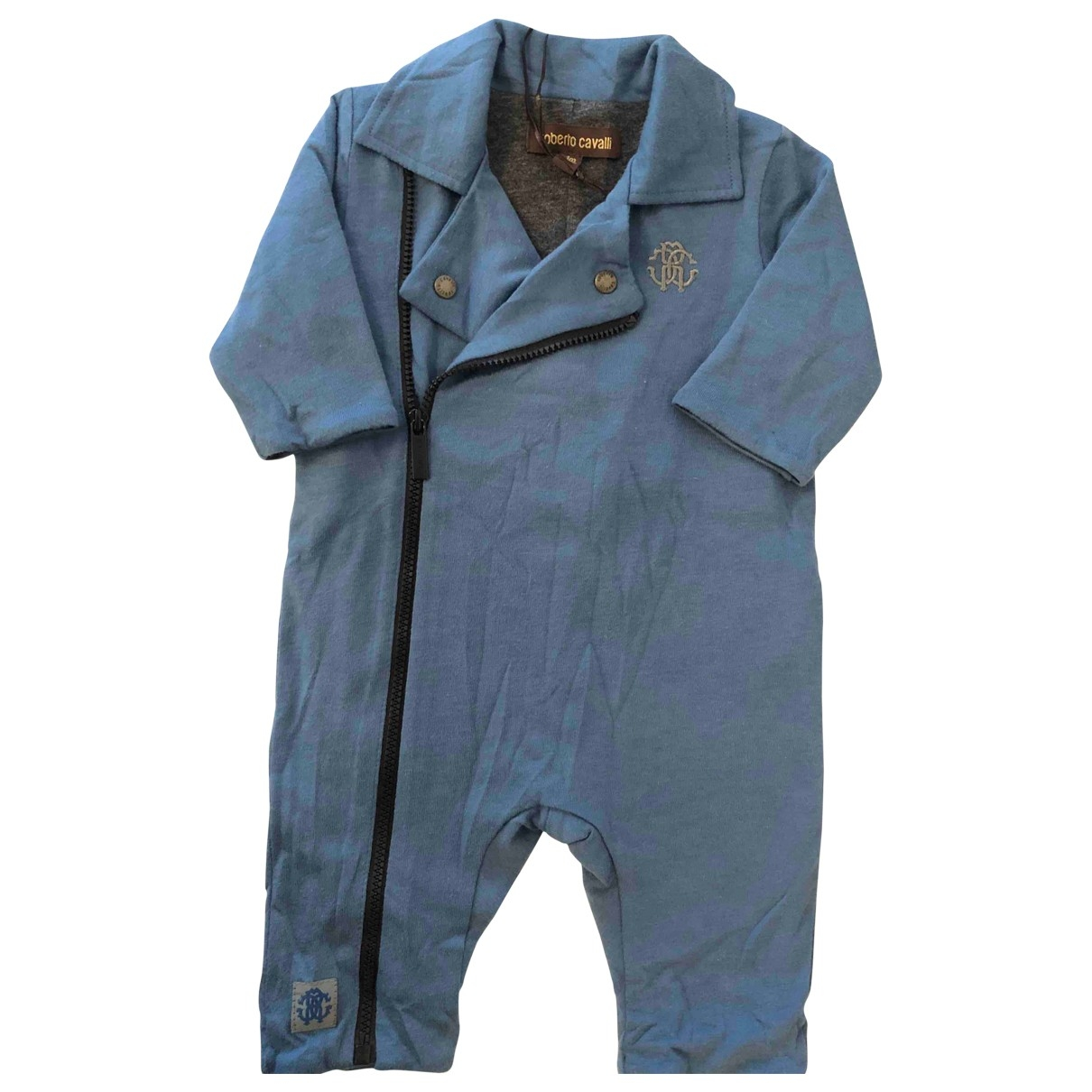Roberto Cavalli \N Blue Cotton Outfits for Kids 1 months - up to 55cm FR