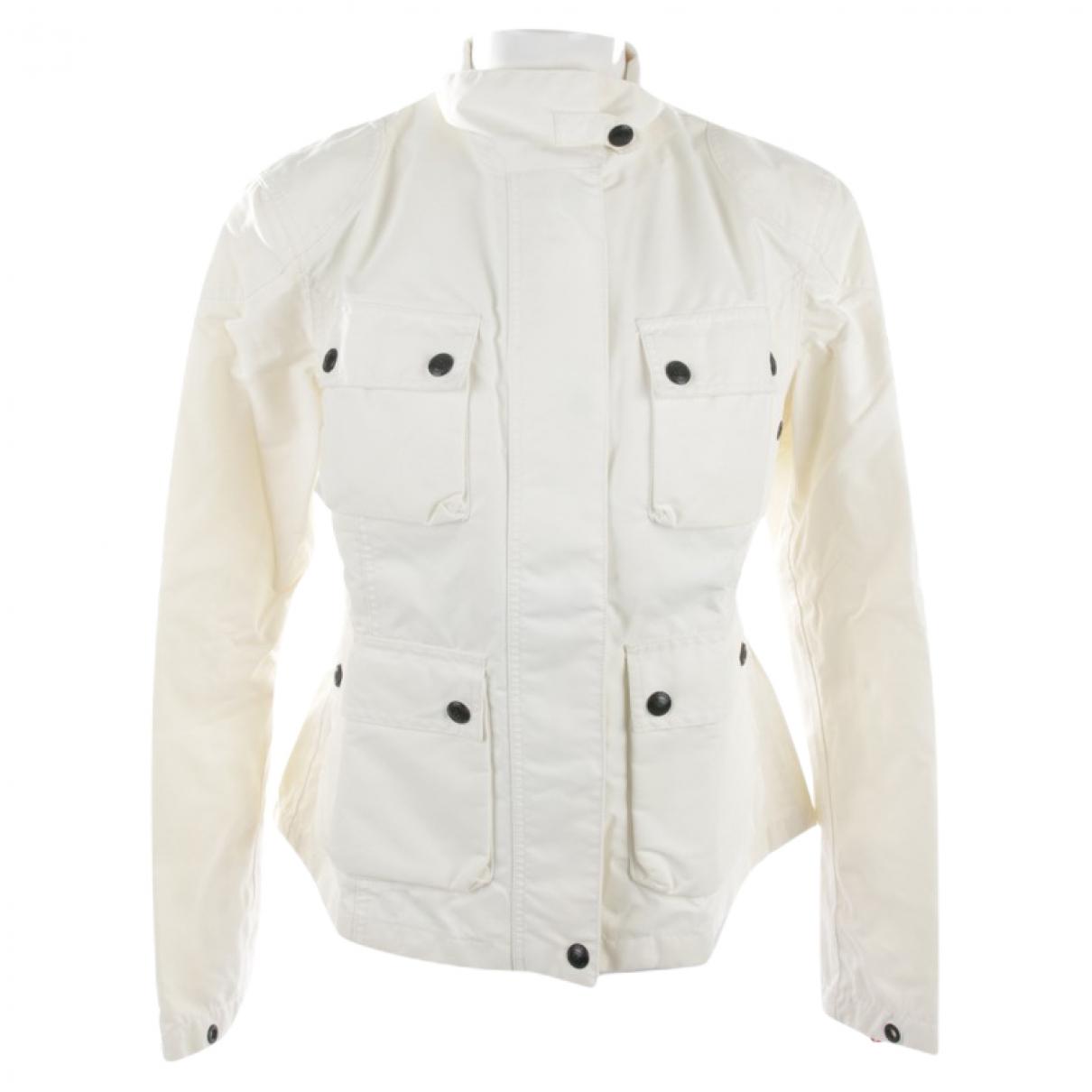 Autre Marque \N White Cotton jacket for Women 38 FR