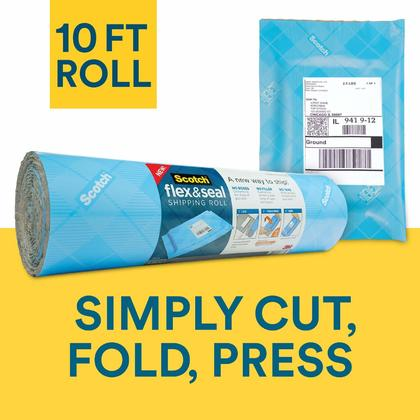Scotch® Flex & Seal Shipping Roll, Mailing Envelope Shipping Supply, 10 ft / 20 ft