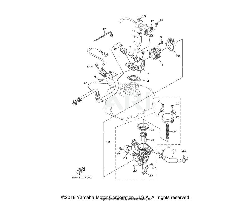 Yamaha OEM 5RU-14291-10-00 BRACKET 1