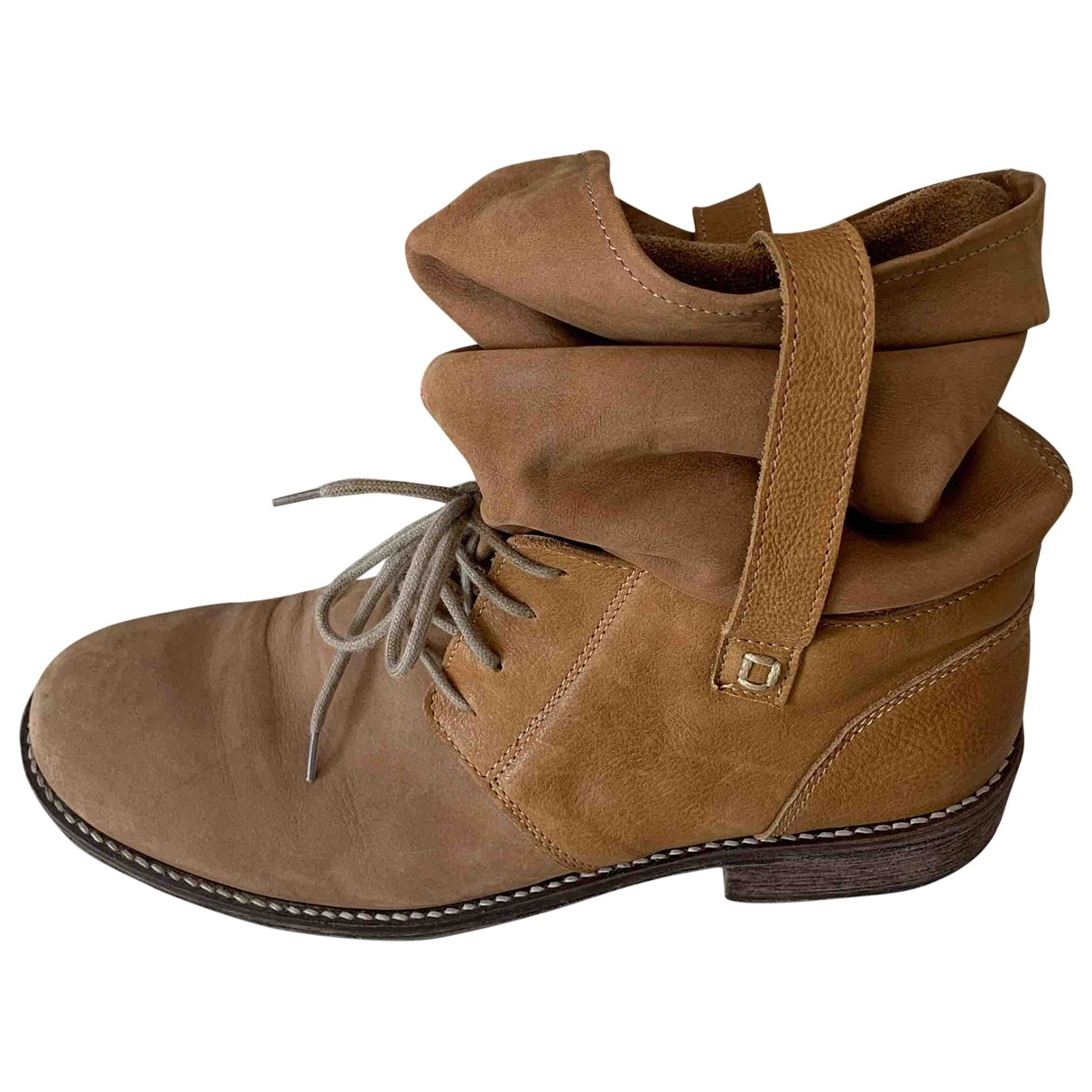 Simonetta \N Camel Leather Boots for Kids 38 EU