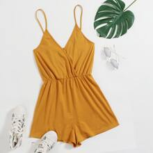 Surplice Neck Slip Romper