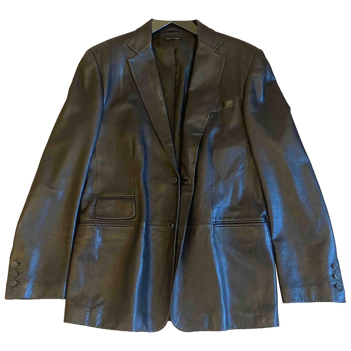 Gucci \N Black Leather jacket  for Men 48 IT