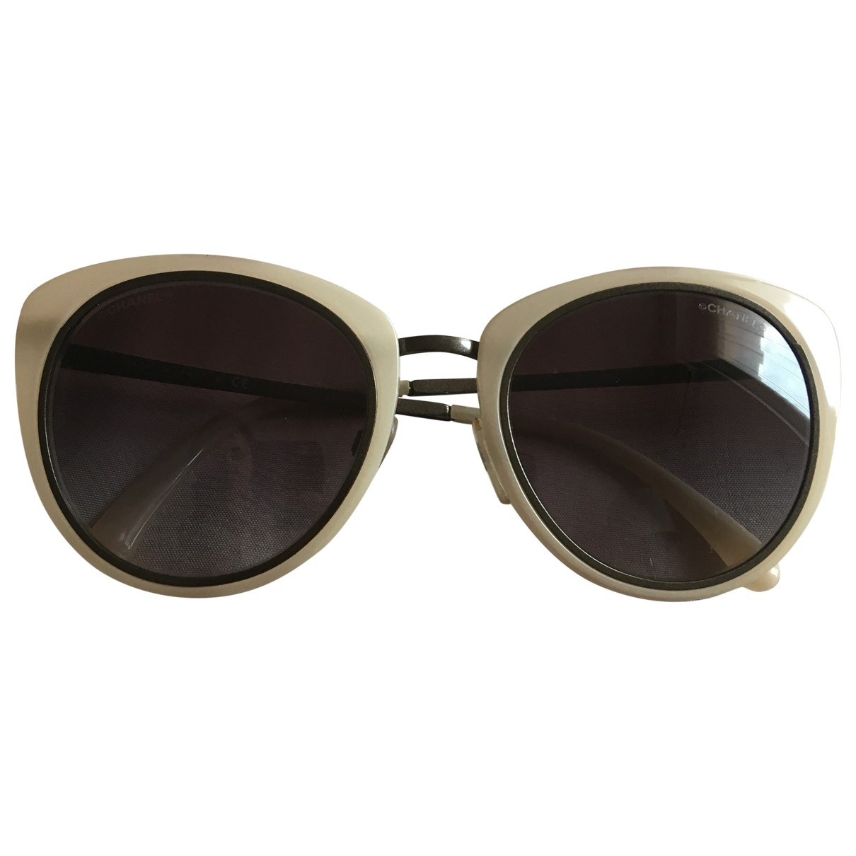 Chanel \N White Metal Sunglasses for Women \N