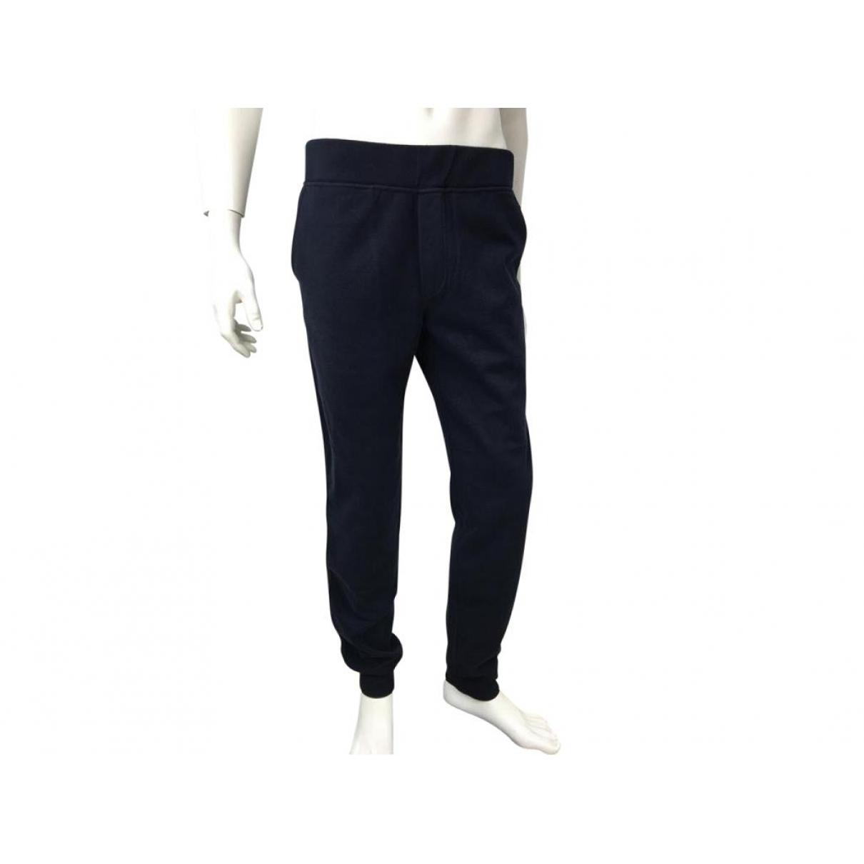 Berluti \N Navy Cotton Trousers for Men 46 FR