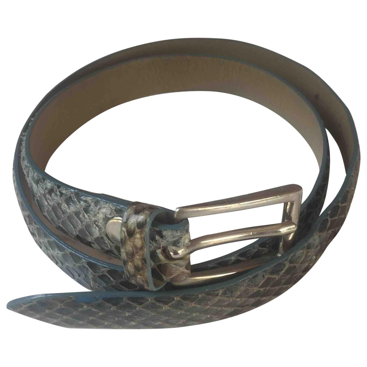 Non Signé / Unsigned \N Turquoise Python belt for Women S International