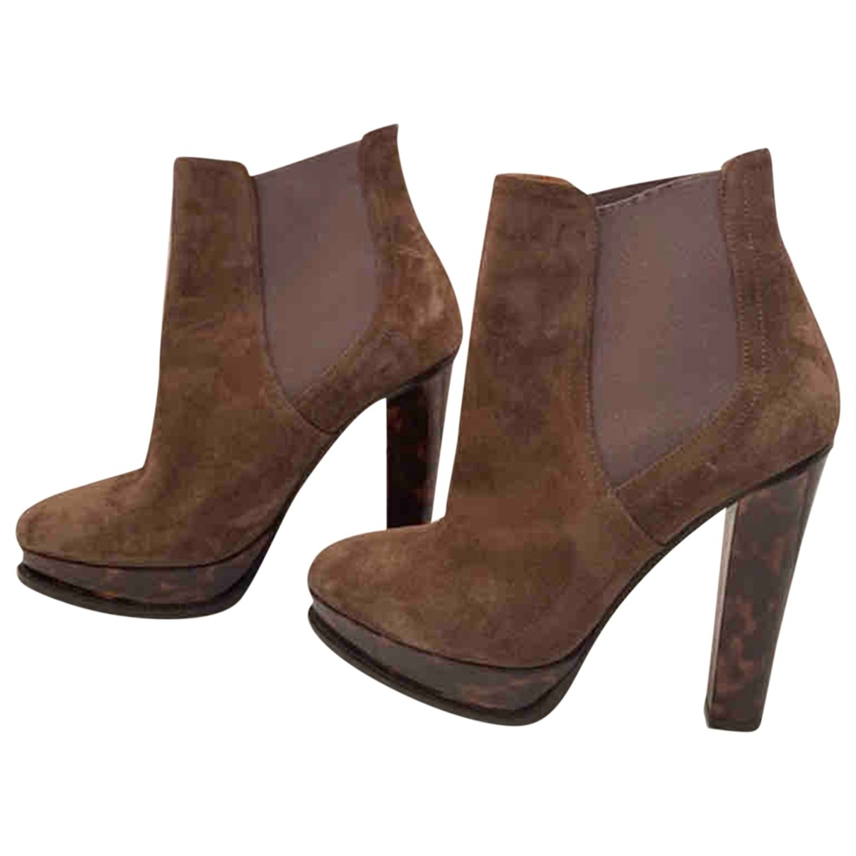 Ralph Lauren \N Brown Suede Ankle boots for Women 39 EU
