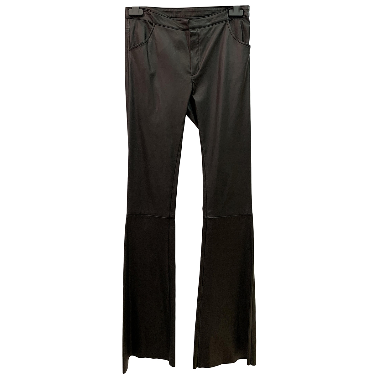 Drome \N Black Leather Trousers for Women S International