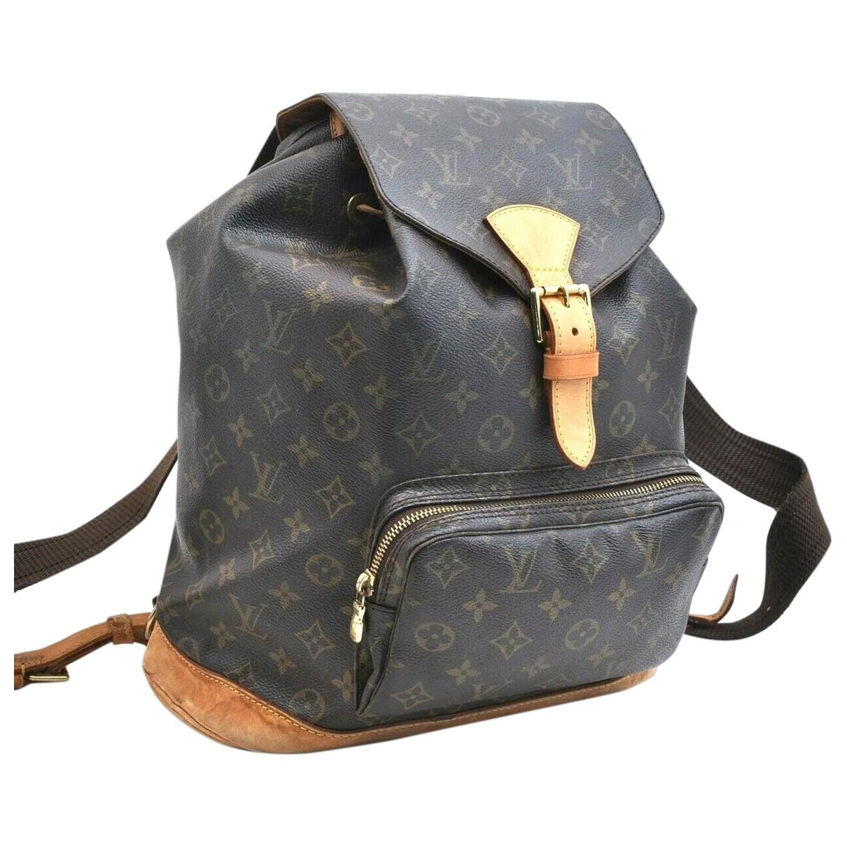 Louis Vuitton \N Brown Cloth backpack for Women \N