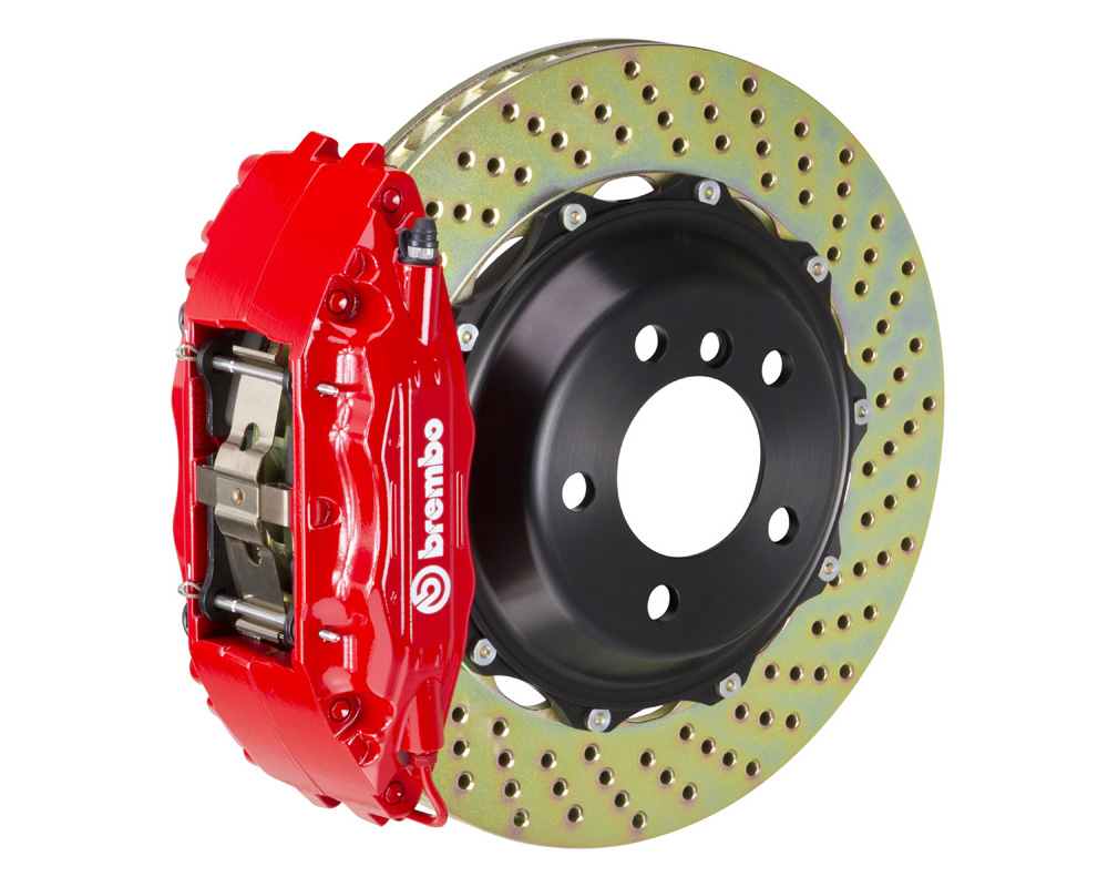 Brembo GT 332x32 2-Piece 4 Piston Red Drilled Front Big Brake Kit