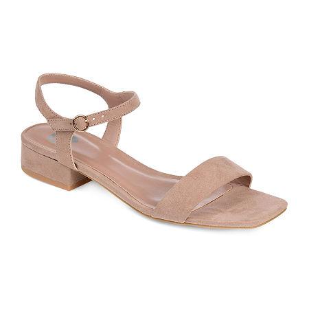 Journee Collection Womens Beyla Pumps Block Heel, 11 Medium, Pink