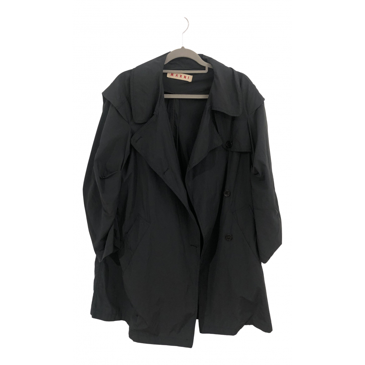 Marni \N Blue Trench coat for Women 40 IT