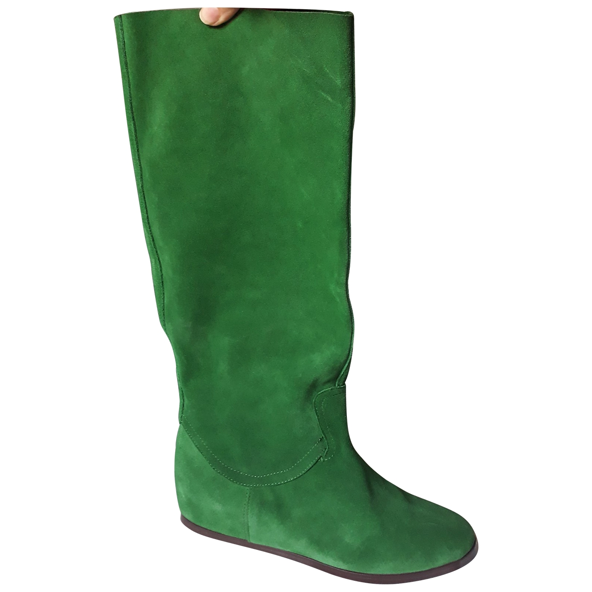 Casadei \N Green Leather Boots for Women 37 EU