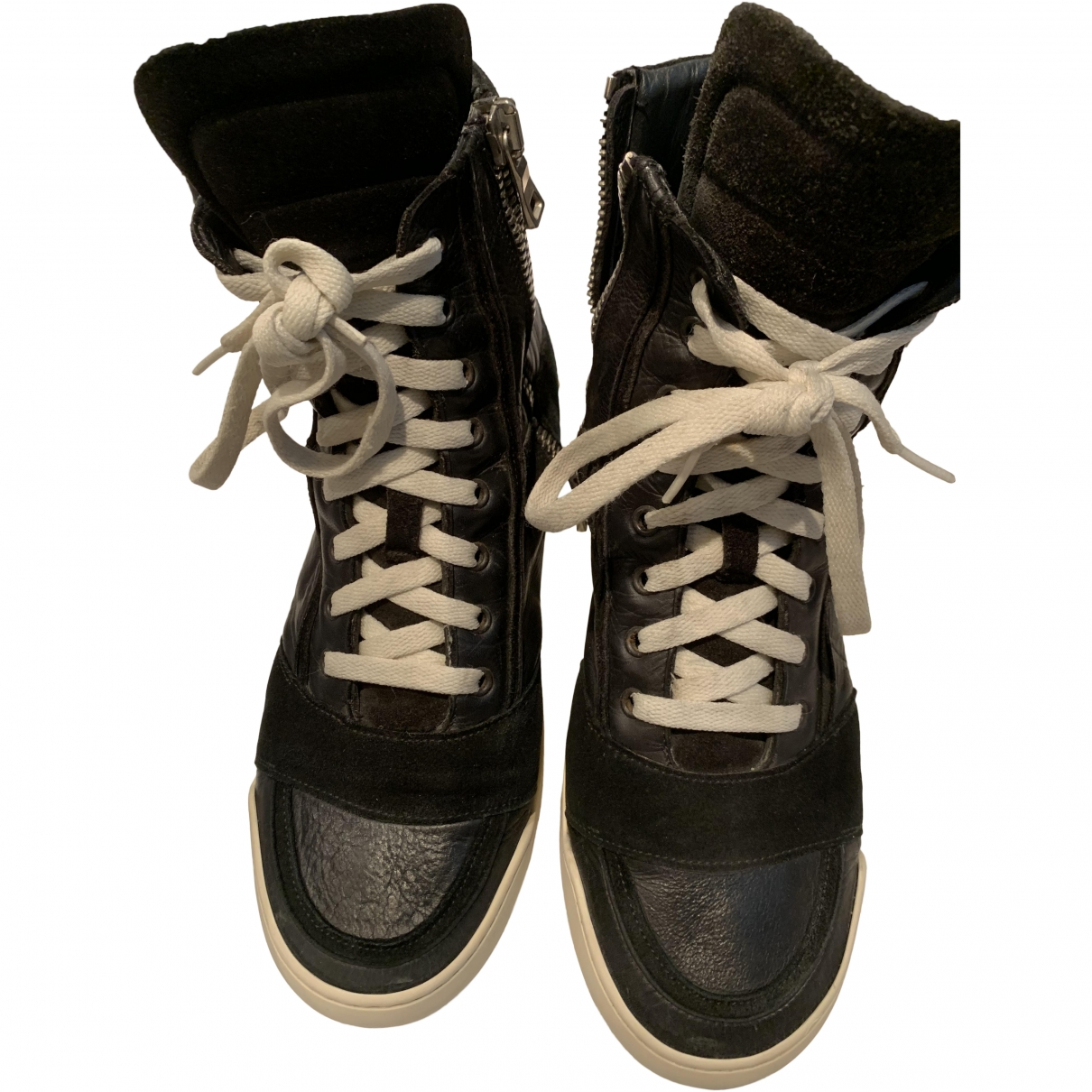 Balmain \N Black Leather Trainers for Men 42 EU