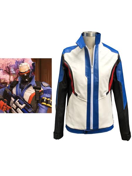 Milanoo Overwatch OW Soldier 76  Halloween Cosplay Costume Soldier 76  Cosplay Uniform Jacket Halloween