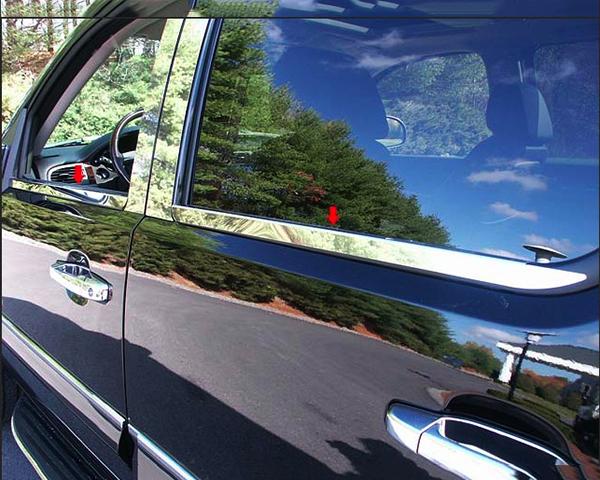 Quality Automotive Accessories 4-Piece Window Sill Trim Chevrolet Tahoe 2009
