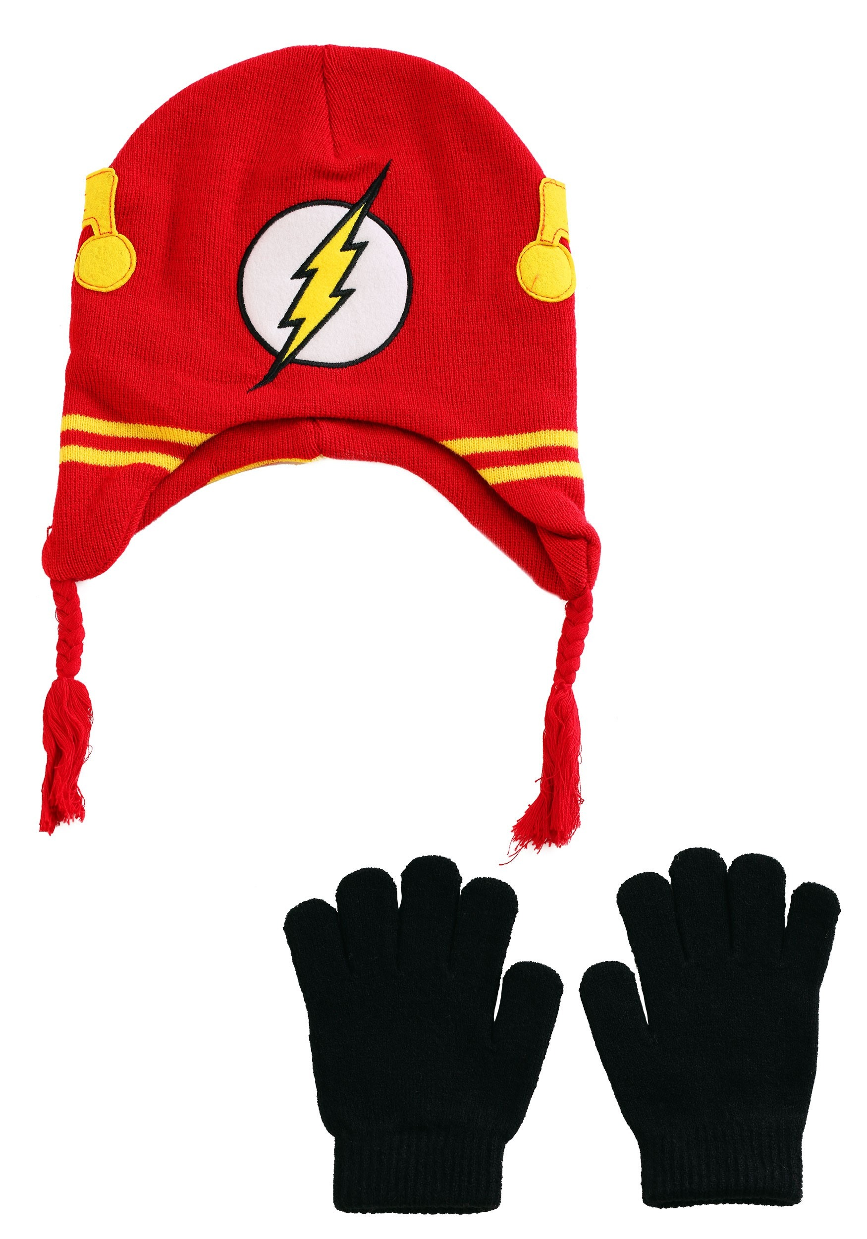 DC Flash Knit Kid's Hat with Gloves