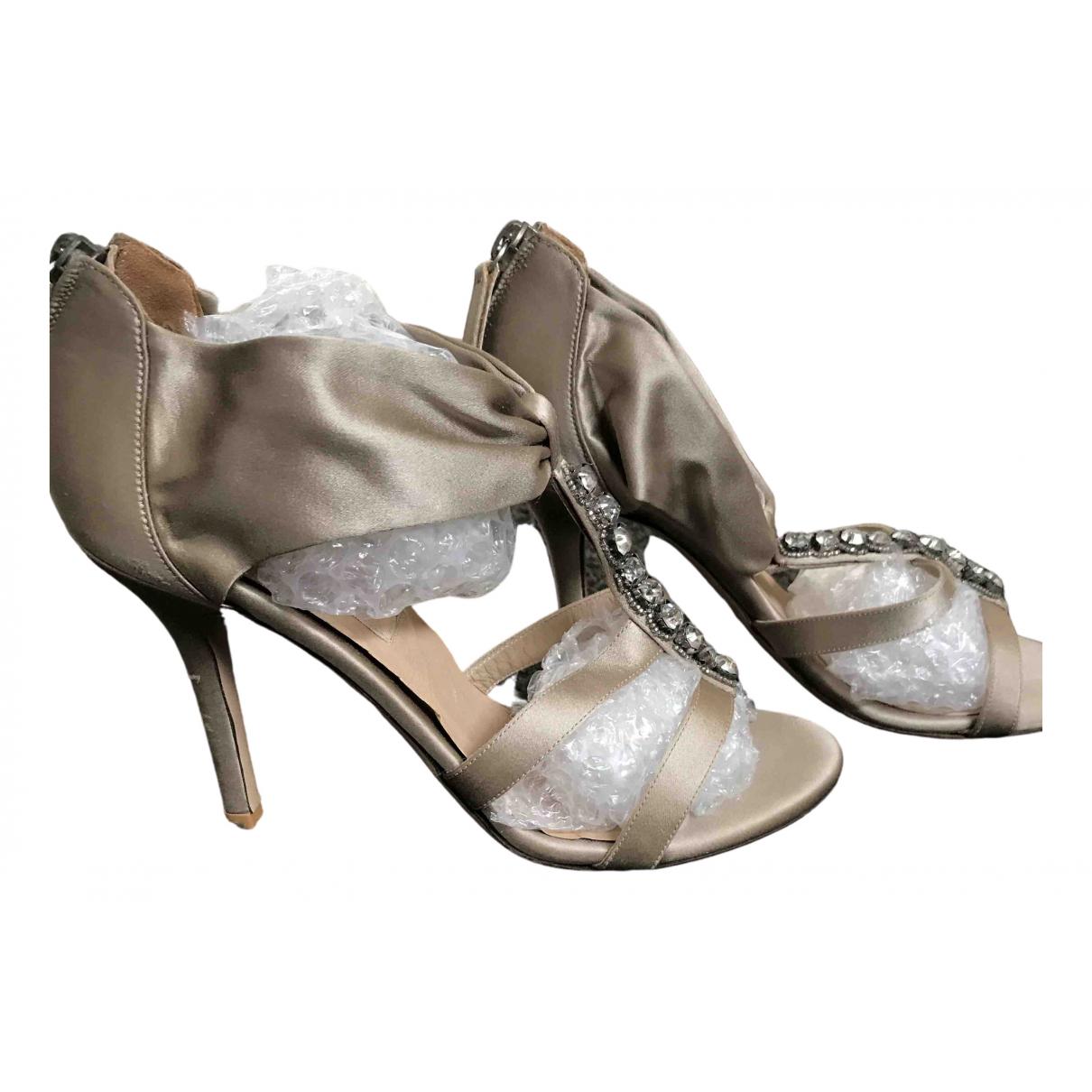 Valentino Garavani \N Beige Cloth Sandals for Women 36 EU