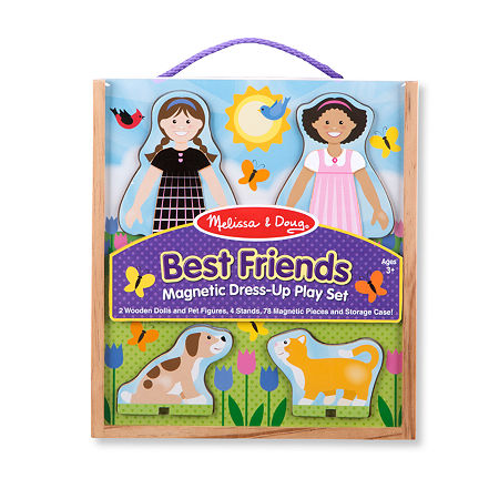 Melissa & Doug Best Friends Magnetic Dress Up Play Set, One Size , No Color Family