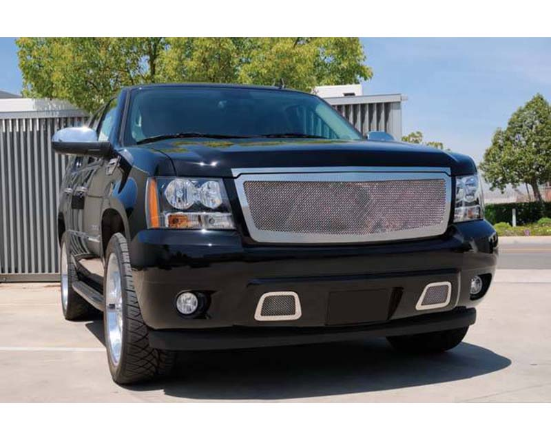 2007-2013 Avalanche, 07-14 Sub/Tahoe Upper Class Grille, Polished, 2 Pc, Insert - PN #54053