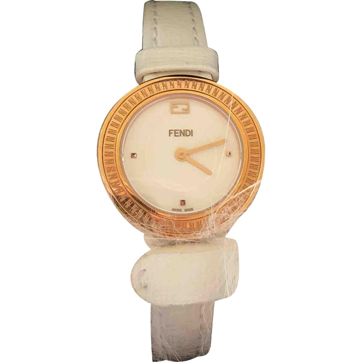 Fendi \N White Steel watch for Women \N
