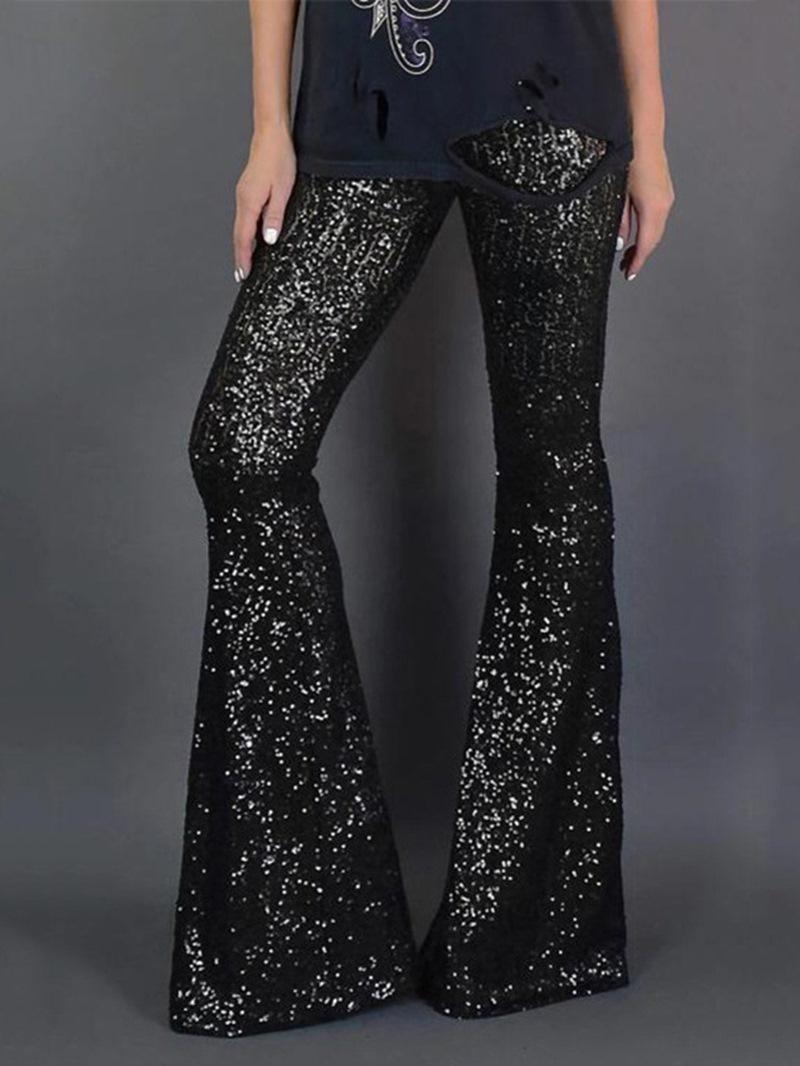 Ericdress Slim Sequins High Waist Women's Casual Pants