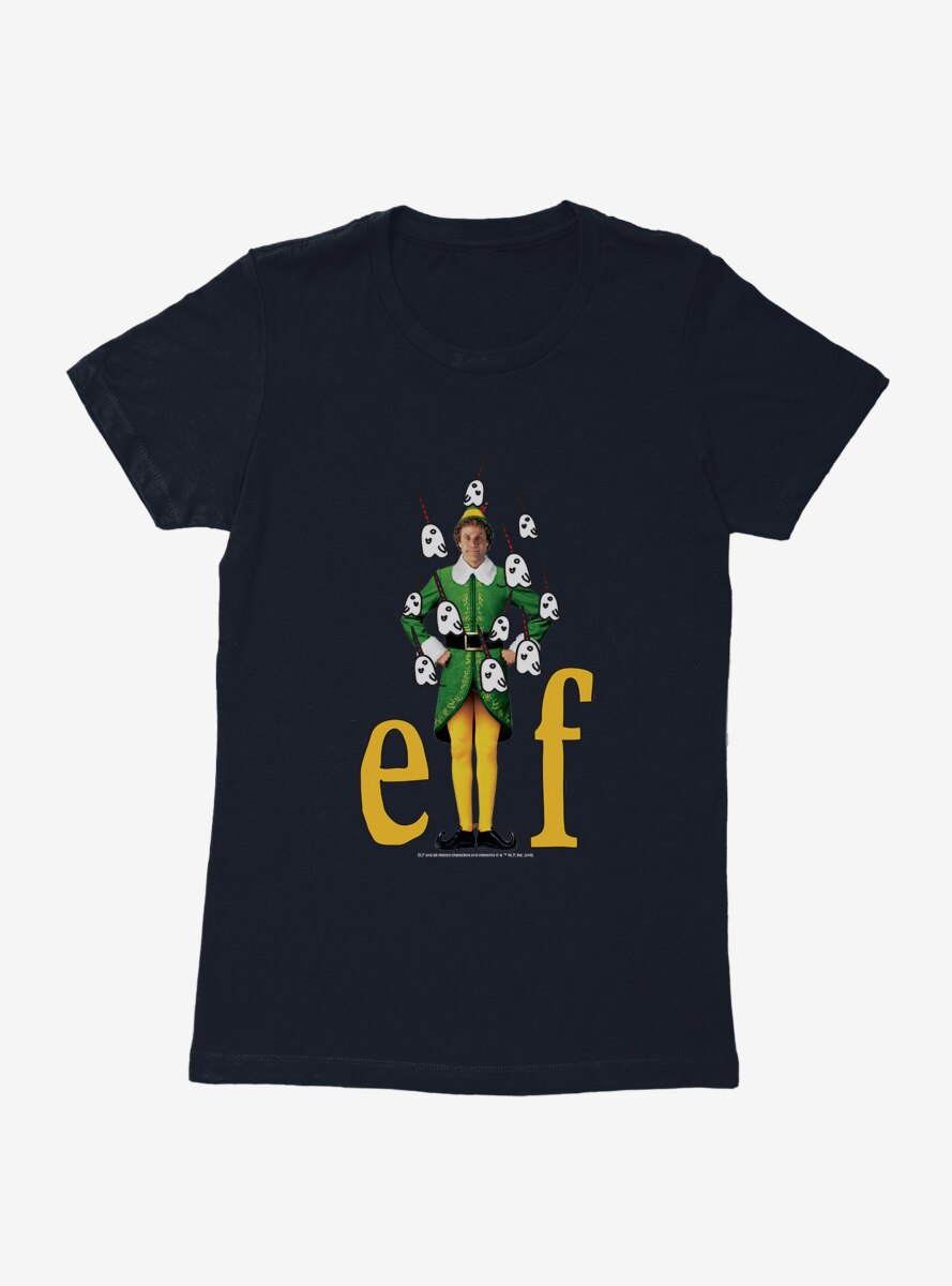 Elf Buddy Narwhal Icons Womens T-Shirt