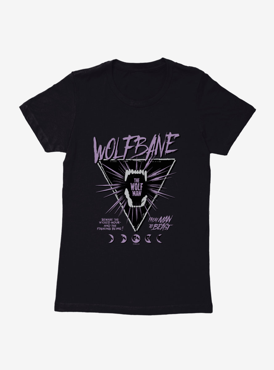 Universal Monsters The Wolf Man Wolfbane Womens T-Shirt