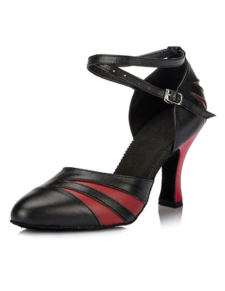 Milanoo Ballroom Dance Shoes 2020 Women Ankle Strap Pointed Toe High Heel Dance Shoes