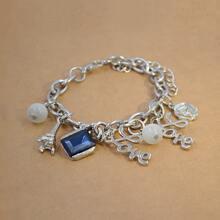 Men Gemstone Decor Bracelet