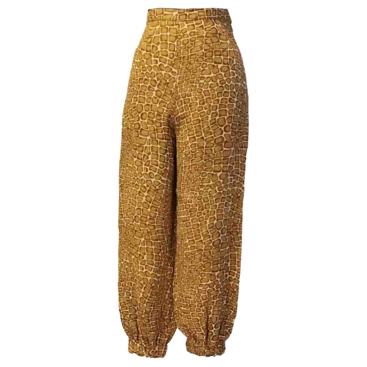 Marella \N Camel Trousers for Women 42 IT
