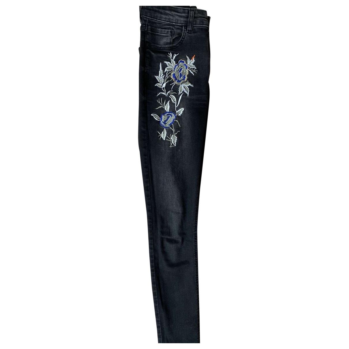 Mango \N Black Denim - Jeans Jeans for Women 34 FR