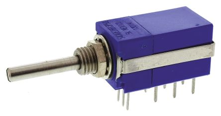 Bourns 1 Gang Rotary Conductive Plastic Potentiometer with an 3.18 mm Dia. Shaft - 5kΩ, ±20%, 0.5W Power Rating,