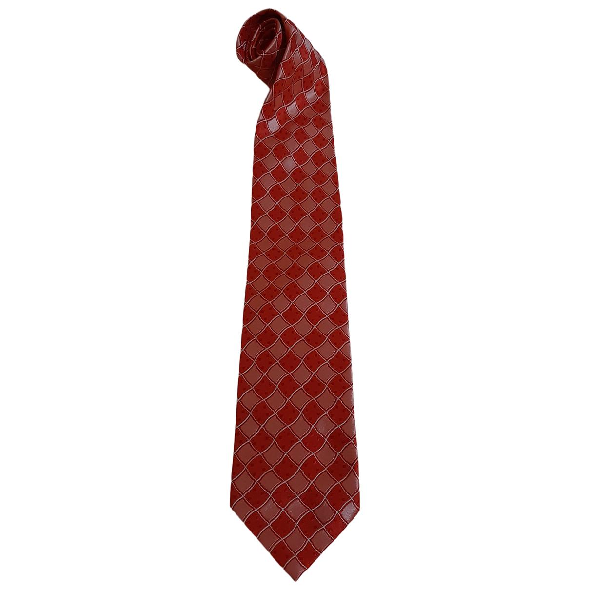 Piombo \N Red Silk Ties for Men \N