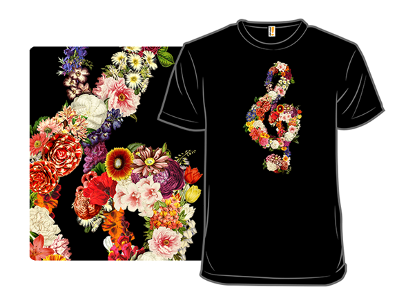 Musical Blooms T Shirt