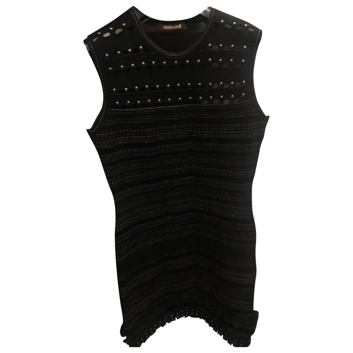 Roberto Cavalli \N Black Fox dress for Women 44 IT