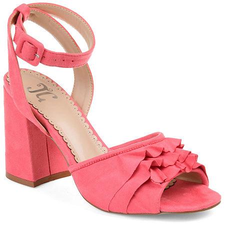 Journee Collection Womens Becca Heeled Sandals, 8 Medium, Pink