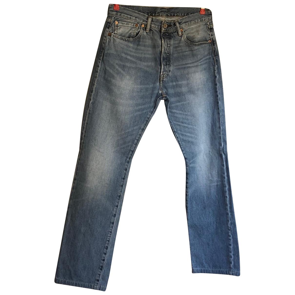 Levi's \N Blue Cotton Jeans for Men 32 UK - US