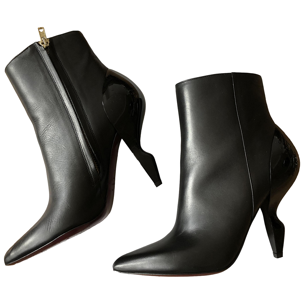 & Stories \N Black Leather Boots for Women 36 EU