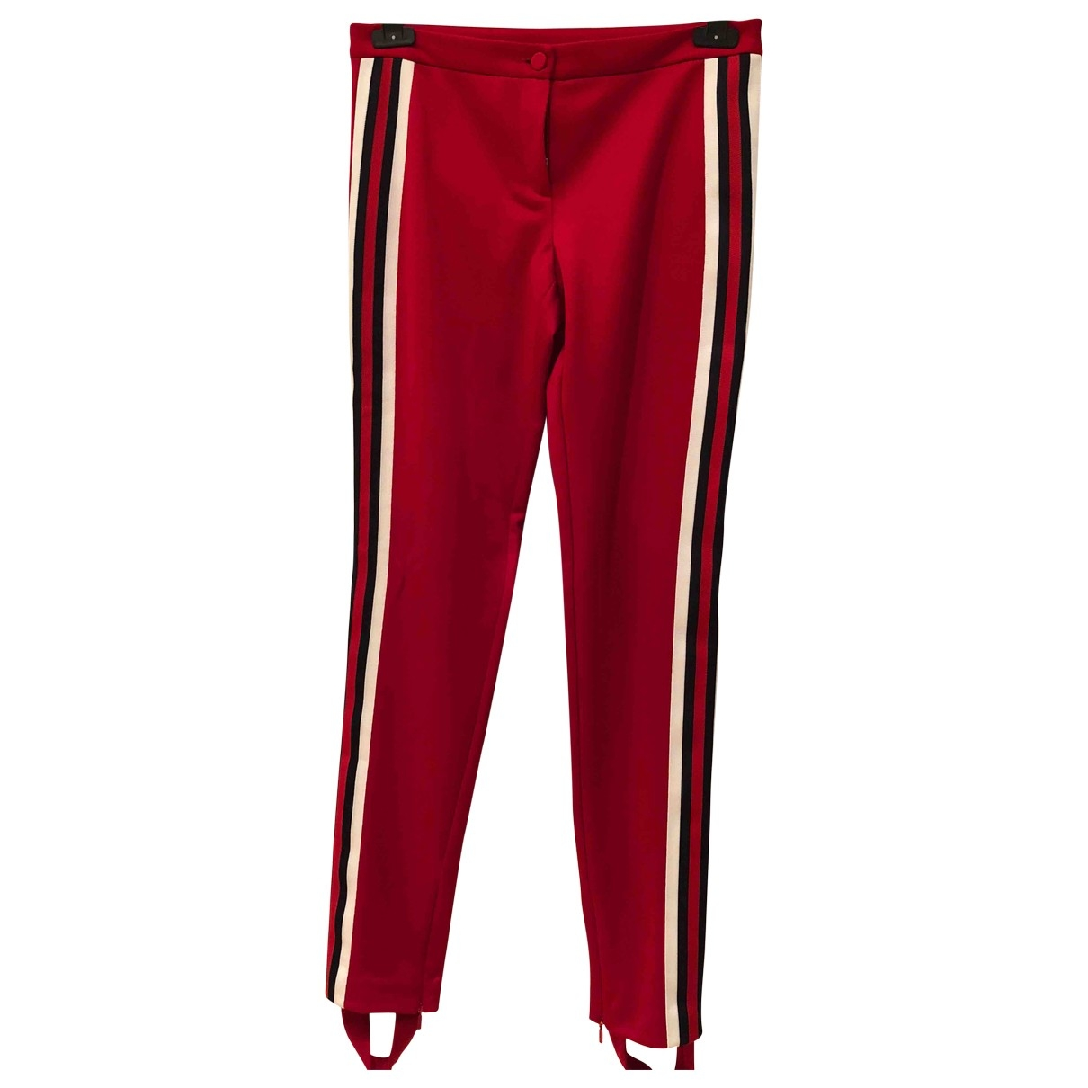Gucci \N Red Cotton Trousers for Women S International
