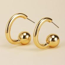 Metal Ball Decor Cuff Earrings