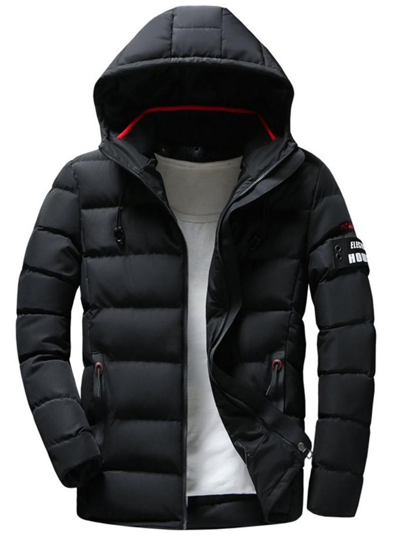 Ericdress Hooded Patchwork Standard Zipper Men's Down Jacket